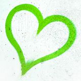 Grünes Schmutzherz Lizenzfreies Stockbild