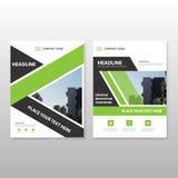 Grünes schwarzes Aufkleber Vektorjahresbericht Broschüren-Broschüren-Fliegerschablonendesign, Bucheinband-Plandesign, grüne Darst Lizenzfreies Stockbild