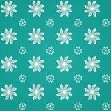 Grünes Sealmess Blumen-Muster Stockbild