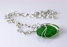 Grünes Seeglas-Halskette Lizenzfreie Stockbilder
