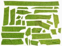 Grünes selbsthaftendes Kreppband stockfoto