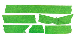 Grünes selbsthaftendes Kreppband lizenzfreie stockfotos