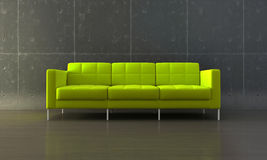 Grünes Sofa Stockbild