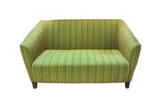Grünes Sofa lizenzfreie stockbilder