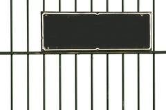 Grünes Stab-Schwarz-Zeichen lizenzfreies stockbild