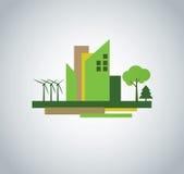 Grünes Stadtdesign stock abbildung