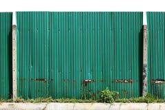 Galvanisierter Zaun Der Baustelle Stockfoto Bild Von Rauh Grau