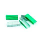 Grünes Staples lokalisierte Lizenzfreies Stockfoto