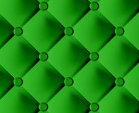 Grünes stilvolles Gewebe mit Knöpfen Stockbilder