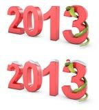 Grünes Symbol des neuen Jahres der Kobras 2013 vektor abbildung
