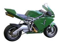 Grünes Taschen-Fahrrad Stockfoto