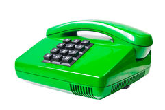 Grünes Telefon Lizenzfreie Stockfotos