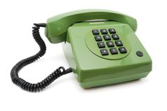 Grünes Telefon Stockfoto