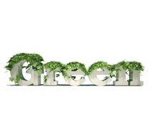 Grünes Thema lizenzfreie abbildung