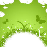 grünes Thema des Frühling-Sommers Lizenzfreie Stockfotografie