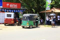 Grünes Tuk-tuk Sri Lanka lizenzfreies stockfoto