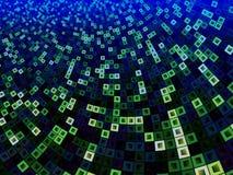 Grünes und blaues Muster von Quadraten innerhalb der Quadrate Stockfotos