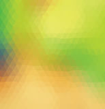 Grünes und gelbes Dreieck Lizenzfreie Stockfotografie