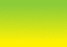 Grünes und gelbes Halbtonmuster Stockfotografie