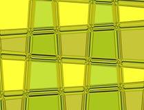 Grünes und gelbes Vektormuster mit Linien und geometrischen Formen Lizenzfreie Stockbilder