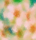 Grünes und orange Dreieck Stockfotografie