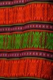 Grünes und orange pillowa Stockbild