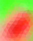 Grünes und rosa Dreieck Lizenzfreies Stockbild