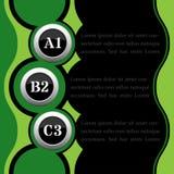 Grünes und schwarzes infographics Lizenzfreie Stockbilder