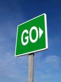 Grünes Verkehrszeichen Lizenzfreies Stockbild