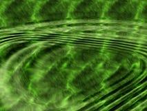 Grünes Wasser mit Kräuselungen. Stockfotos