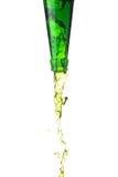 Grünes Wasser spritzt Stockfotografie