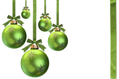 Grünes Weihnachten Stockfotografie