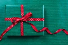 Grünes Weihnachtspaket Lizenzfreies Stockbild