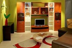 Grünes Wohnzimmer lizenzfreie stockfotos