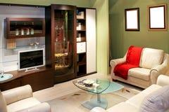Grünes Wohnzimmer stockfoto