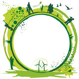 Grünes world.eps Lizenzfreies Stockfoto