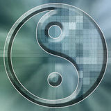 Grünes Yin Yang Stockfoto