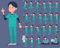 Grünflachabnutzung men_1 der chirurgischen Operation Stockfotografie