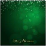 Grünhintergrund der frohen Weihnachten Stockfoto