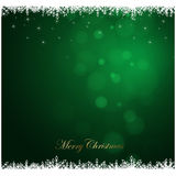 Grünhintergrund der frohen Weihnachten, Ferienzeit Stockbild