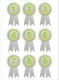 Grünkennsätze mit Zahlen lizenzfreie abbildung