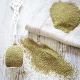 Grünpulver des Kelps (Algen) Lizenzfreies Stockbild