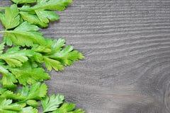 Grüns auf der Tabelle Lizenzfreie Stockfotos