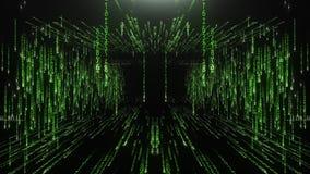 Grünstreifen vom Matrixcode stock video