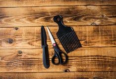 Gręple i nożyce zdjęcie stock