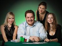 grępluje kasyna układ scalony graczów grzebaka zdjęcia stock