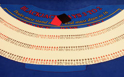 grępluje kasyno więcej stół Fotografia Stock