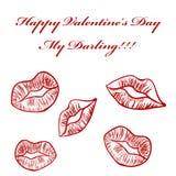 grępluje mój portfolio valentines powitanie Fotografia Stock