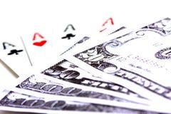 grępluje pieniądze bawić się Fotografia Stock