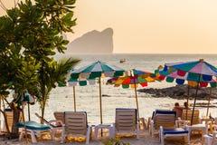 Grże plażę Obrazy Stock
